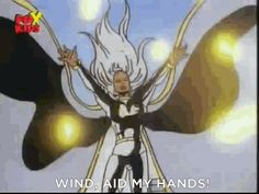 """How Storm couldn't use her powers without explaining what she was going to do. 