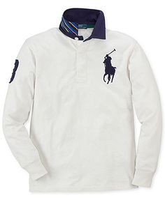 Ralph Lauren Kids Shirt, Boys Long-Sleeve Big Pony Rugby
