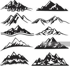Vektorgrafik : Mountain Berge - Gao Aguirre - Re-Wilding Trendy Tattoos, Small Tattoos, Tattoos For Women, Cool Tattoos, Montain Tattoo, I Tattoo, Tattoo Girls, Wrist Tattoo, Tattoo Quotes