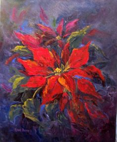 watercolor poinsettia - Google Search