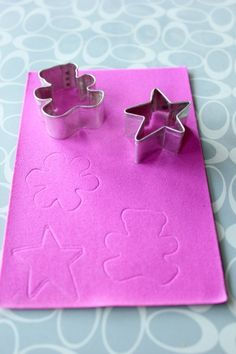 IMG 9319 DIY Cookie Cutter Foam Stamps!! Super Easy!