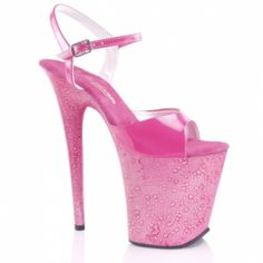 "8"" heel hot pink marble with 4"" platform SIZE 7 at the Shopping Mall, $75.00"