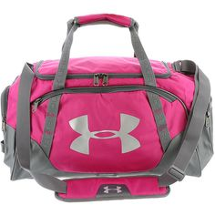 Under Armour Undeniable 3.0 Small Duffel Pink Bags (705 EGP) ❤ liked on Polyvore featuring bags, luggage and pink