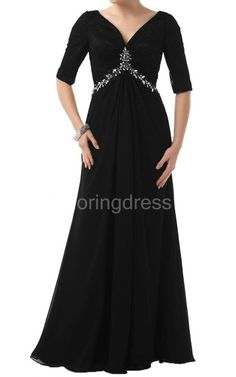 US$99.00-Unique 1/2 Sleeve V-neck Long Chiffon Long Mother of the Groom Dress with Sleeves. http://www.newadoringdress.com/1-2-sleeve-v-neck-long-chiffon-dress-with-sequins-p307713.html. Tailor Made mother of the groom dresss/ mother of the brides dress at #NewAdoringress. We offer a amazing collection of 800+ Mother of the Bride dresses so you can look your best on your daughter's or son's special day. Low Prices, Free Shipping. #motherdresss