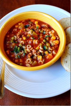 Minestrone+Soup - Wow, so, so good! What a perfect fall/winter meal. I did make some changes from the recipe. I used sweet Italian sausage, rather then spicy. Instead of 4 cups water - I used 2 cups water, and 2 cups low sodium vegetable broth. I used fresh parsley, instead of dried. I tossed in fresh thyme. I put in 3/4 a cup of cannelloni beans. Will make again for certain. Now I'm on a soup kick!
