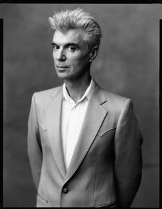 David Byrne by Timothy Greenfield-Sanders. Richard Burlet, Neo Rauch, Ukraine, Music Genius, David Bailey, Music Like, Famous Photographers, Sharp Dressed Man, Music Icon