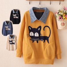 "Japanese cute students fleece pullover Coupon code ""cutekawaii"" for 10% off"