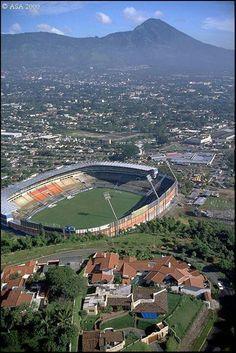 Cuzcatlan stadium. El Salvador