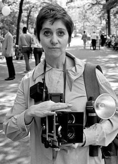 JoeInCT • Diane Arbus in Central Park with her Mamiya...