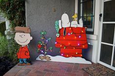 Charlie Brown and snoopy porch/yard wooden decor