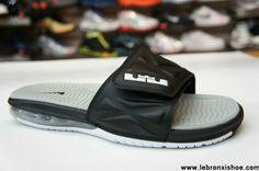 Latest Listing Discount Nike Air LeBron Slide 2 Black White Strata Grey 554713 010 Fashion Shoes Shop