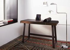 """""""Pegasus Home Desk"""" by IF Group/Tilla Goldberg, Classicon, 2014 l Simple and smart – perfect working from home l STYLEPARK Home Desk, Home Office, Large Furniture, Furniture Design, Simple Desk, Little Houses, Contemporary Design, Shelves, Pegasus"""