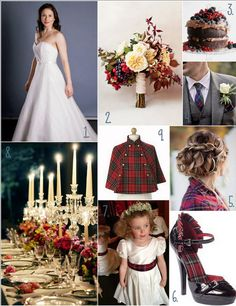 Mad for Plaid! Fall tartan wedding inspiration.