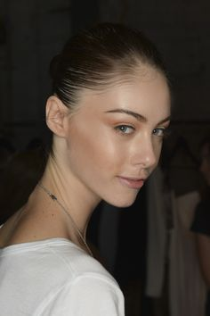 Model backstage at the Alex Perry Fashion Show