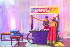 Beautiful sangeet bangle station.