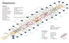 Emirates Terminal 3 Business Class Lounge Map dubai airport map