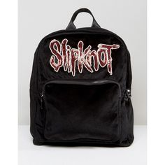 Sacred Hawk Slipknot Black Backpack (150 RON) ❤ liked on Polyvore featuring bags, backpacks, black, knapsack bag, flower print backpack, floral bags, floral print bags and rucksack bags