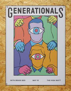 Mother Design, Generationals, print, poster