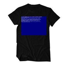 Bluescreen Windows Nerd Fun lustiges T-Shirt Herren https://www.amazon.de/dp/B01NCIKGR4/ref=as_li_ss_tl?ie=UTF8&linkCode=sl1&tag=kiofsh-21&linkId=f68f5b9611f2056082a383b4ea2b3fec