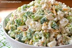 Enjoy this deliciously sweet and easy Broccoli Cauliflower Salad. Make it for a … Enjoy this deliciously sweet and easy Broccoli Cauliflower Salad. Make it for a crowd or half the recipe for a family night side dish. Best Salad Recipes, Healthy Recipes, Vegetarian Salad Recipes, Veggie Salads Recipes, Broccoli Salad Recipes, Salad Recipes For Dinner, Amish Broccoli Salad, Chicken Recipes, Sunday Recipes