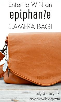 epiphanie has beautiful camera bags made just for women. Check them out! .http://www.epiphaniebags.com/?Click=7721.  To enter to win one go to Nigh Owl at http://anightowlblog.com/2013/07/epiphanie-camera-bag-review-giveaway.html