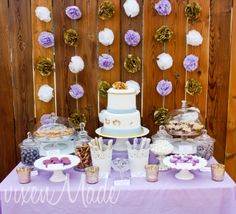 Gold and purple Wedding Anniversary #wedding #purplegold