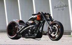 THUNDERBIKE custom chopper bobber bike 1tbike motorbike motorcycle tuning wallpaper background