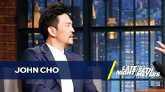 John Cho talks about Columbus on Late Night with Seth Meyers Crazy Halloween Costumes, John Cho, Seth Meyers, Late Nights, On Set, Film, Movies, Fictional Characters, Partying Hard
