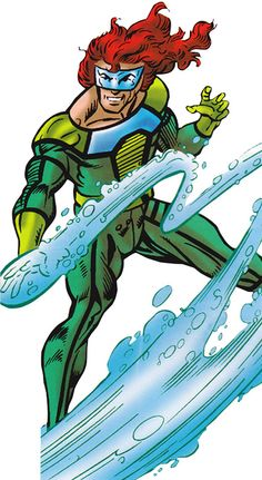 Aqueduct - Marvel Comics - New Warriors enemy - Art by Mark Bagley