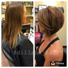love this cut look at the volume added to fine limp hair!