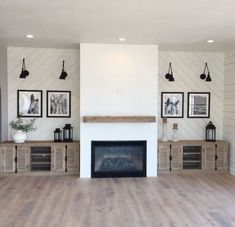 38 Ideas For Living Room Wallpaper Fireplace Mantles Farmhouse Fireplace, Home Fireplace, Fireplace Design, Fireplaces, Fireplace Candles, Fireplace Ideas, Country Fireplace, Wood Mantle, Black Fireplace