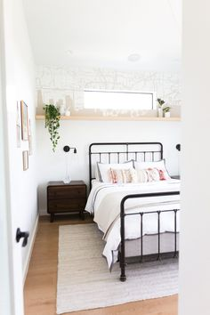 Take a peek inside this nice, neutral bedroom!