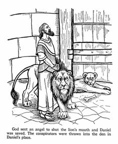 coloring pages of daniel in the bible | Coloring (Daniel in the Lions' Den) - Kids Korner ...