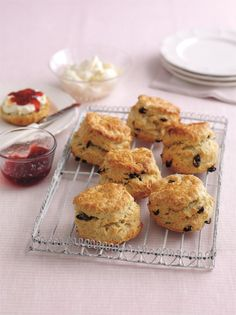 Fruity Scones ~ with sultanas ~ serve with jam and cream | recipe by Mary Berry of #GBBO from 'Mary Berry's Cookery Course' | via The Happy Foodie