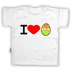 T-shirt enfant original de Pâques : I love œuf