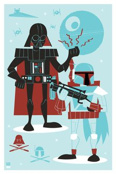 Star Wars Doodles by Ian Glaubinger, via Behance