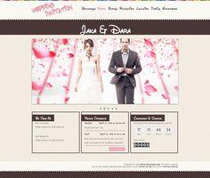 Template undangan pernikahan online tema Disney