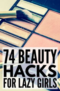 Beauty hacks. We love them. From hot weather makeup tips and overnight beauty regimes, to acne and blackhead busters, teeth-whitening formulas, and shaving secrets, there are so many natural (and sometimes weird!) DIY tricks out there that every girl should know. Check out 74 of our favorite beauty hacks to help you look your best in less time while on a budget!