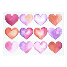 Valentines day card support small business valentines day watercolor heart card colourmoves