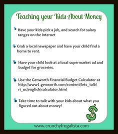 Teaching Your Kids About Money #parenting #money