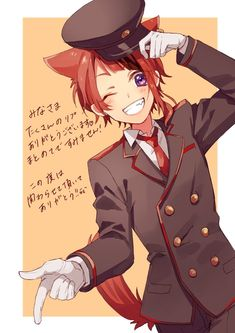 Anime Cat Boy, Neko Boy, Anime Neko, Manga Boy, Anime Guys, Anime Art, Kawaii Chibi, Kawaii Anime, Fox Eyes