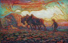 Adriaan Herman Gouwe , Ploegende Boer ca. 1910-1915