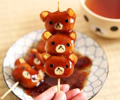 ❤ Blippo.com Kawaii Shop ❤ — delicious-food-porn:   Rilakkuma Mitarashi Dango