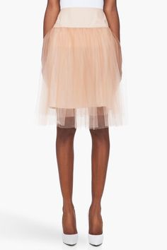 Take me to the ballet! Mcq Alexander Mcqueen Nude Silk Underskirt