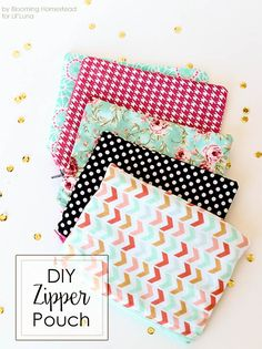 Easy sew zipper pouc