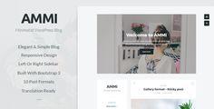Ammi - Minimalist WordPress Blog - Personal Blog / Magazine Download here: https://themeforest.net/item/ammi-minimalist-wordpress-blog/20231735?ref=classicdesignp