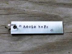 Accio Keys Keychain  Harry Potter  Books  Key by cynicalredhead, $13.00
