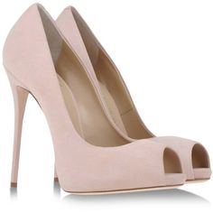 Giuseppe Zanotti Design Open Toe Light Pink found on Polyvore