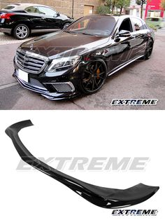 07-09 PAINTED GLOSS BLACK Mercedes W211 FACELIFTED AMG PACKAGE GH TYPE FRONT LIP
