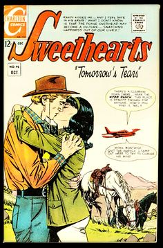 Comic Book Plus, Comic Books, Garcia Lopez, Charlton Comics, Romance Comics, True Romance, Comics Universe, Comic Covers, Love Story